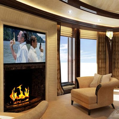 Kismet Yacht Owner Suite Fireplace