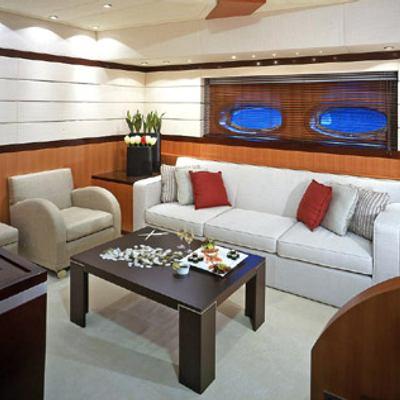 Mumu Yacht Salon with Cocktail Table