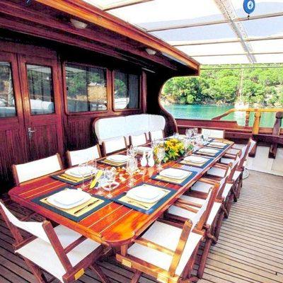 Matina Yacht Aft Dining
