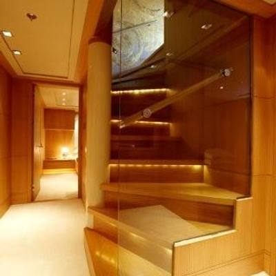 N.M.N Yacht Stairs Leading to Main Deck