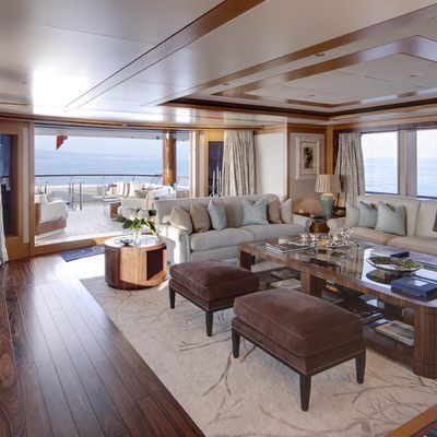 Lady Britt Yacht Main Salon Bridging The Interior And Exterior Spaces