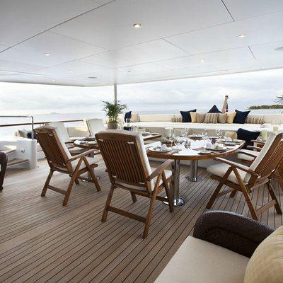 Bellami.Com Yacht Main Aft Deck Dining