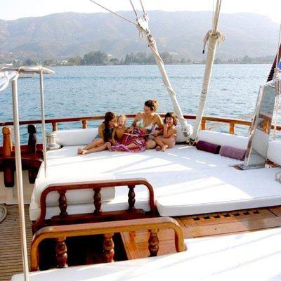 Matina Yacht Aft deck