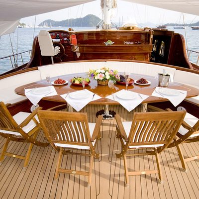 Take It Easier Yacht Exterior Dining