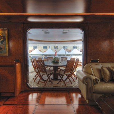CD Two Yacht Upper Deck Table Looking From Upper Saloon