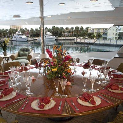 Amarula Sun Yacht Exterior Dining