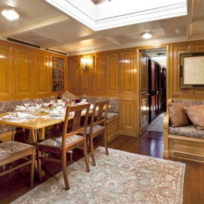 Shamrock V Yacht Dining