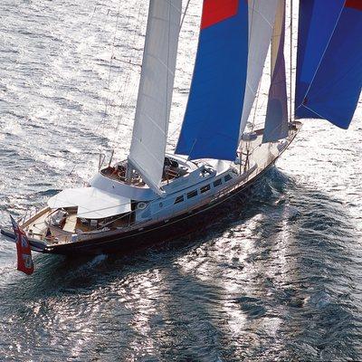 Andromeda la Dea Yacht Aerial View - Sailing