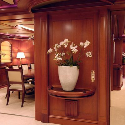 Athena Yacht Hallway & Dining