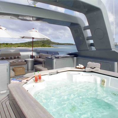 Silver Dream Yacht Jacuzzi