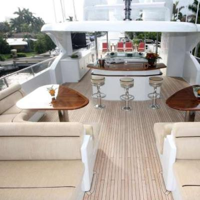 Far From It Yacht Aft Seating