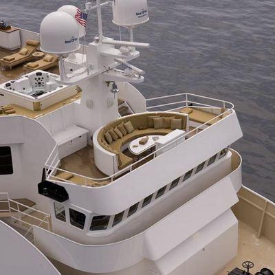 SuRi Yacht Aerial View - Decks