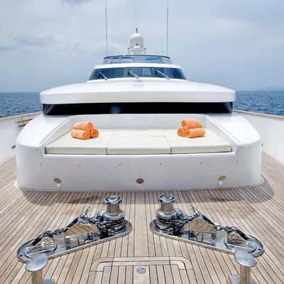 Mabrouk Yacht Foredeck