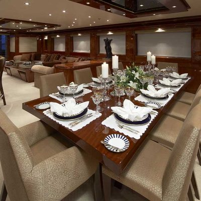 Lady Leila Yacht Dining Salon