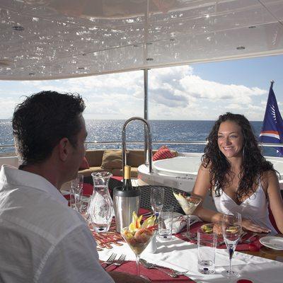 Nicole Evelyn Yacht Skylounge Aft Deck