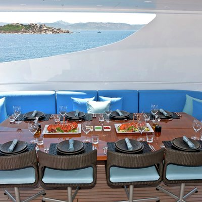 Inception Yacht Exterior Dining