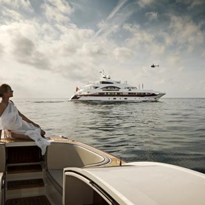 Quite Essential Yacht View from Tender