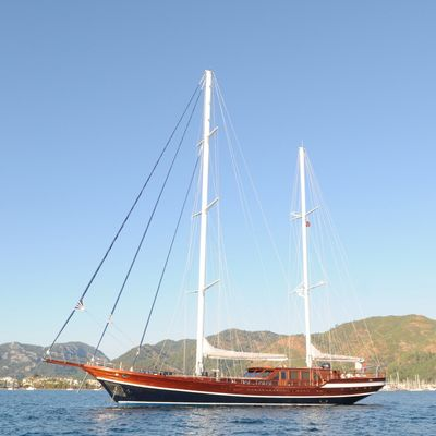 Queen of Datca Yacht Side View