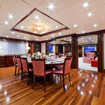 Sophie Blue Yacht Dining Salon