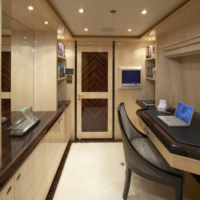Lady Leila Yacht Upper Deck Master Office