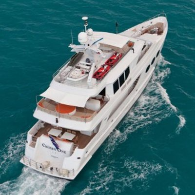 Chosen One Yacht Aerial View