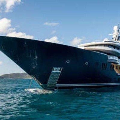 Solandge Yacht At Anchor Bow Shot