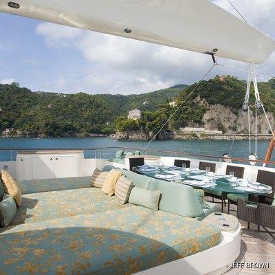 Hemisphere Yacht Sunpads on Bridge Deck