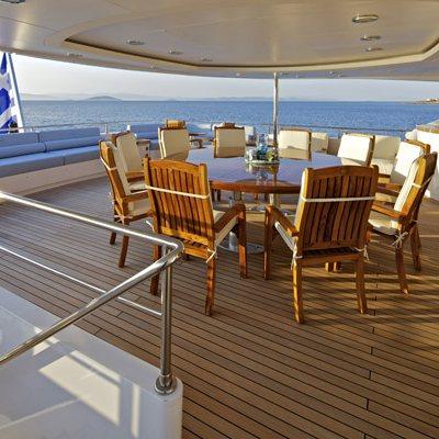 Mia Rama Yacht Upper Deck Seating