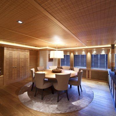 Naia Yacht Interior Dining Area
