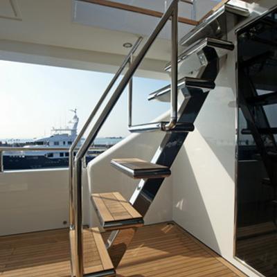 Tatiana I Yacht Deck Staircase