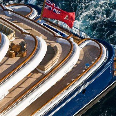Aquila Yacht Aerial View - Decks