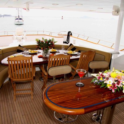 Empire Sea Yacht Exterior Dining Table