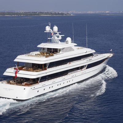 Lady Britt Yacht Underway With A View Of The Aft Deck