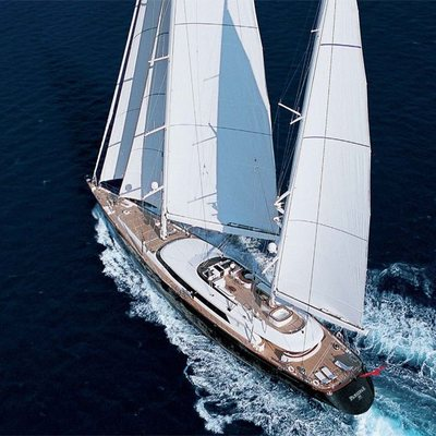 Parsifal III Yacht Aerial