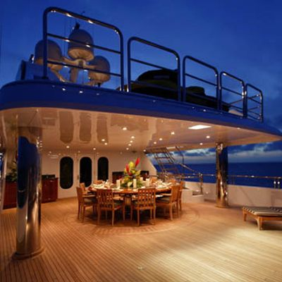 One More Toy Yacht Main Aft Deck - Night