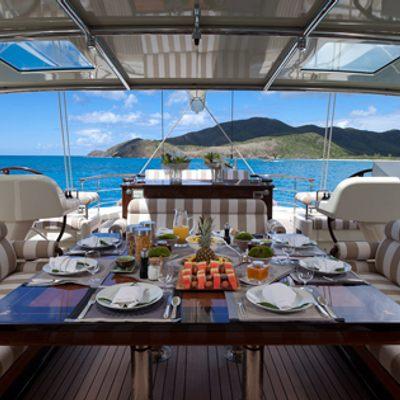 Tiara Yacht Upper deck dining