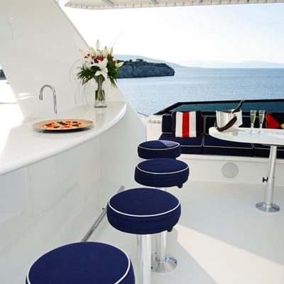 Endless Summer Yacht Upper Deck Bar