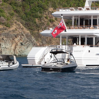 Sunrise Yacht Aft with Tenders