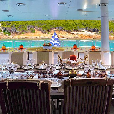 Ionian Princess Upper Deck Aft Dining