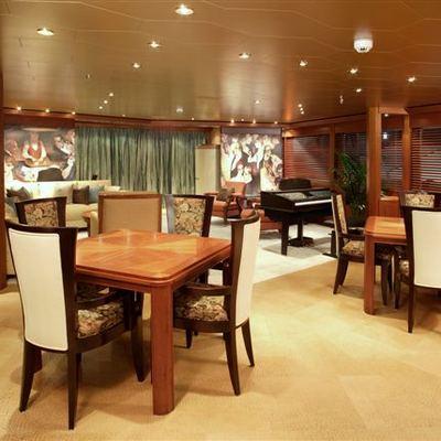 Perle Bleue Yacht Main Saloon - Starboard