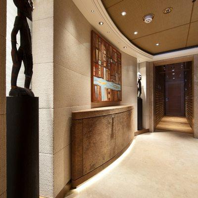 Naia Yacht View along Hallway