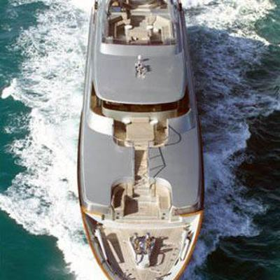 Silver Dream Yacht Running Shot - Overhead