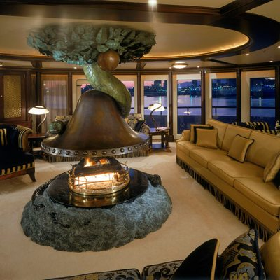 Freedom Yacht Detail - Centre Fireplace