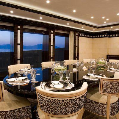 Alfa Nero Yacht Interior Dining