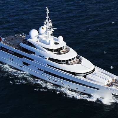 Naia Yacht Running Shot - Aerial View