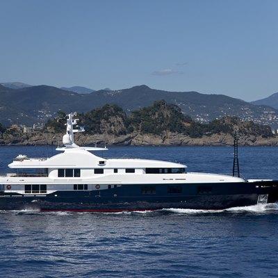 Baraka Yacht Running Shot - Profile