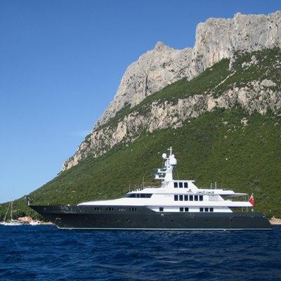 Cyan Yacht Landscape View