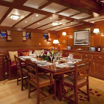 Elena Yacht Dining Salon