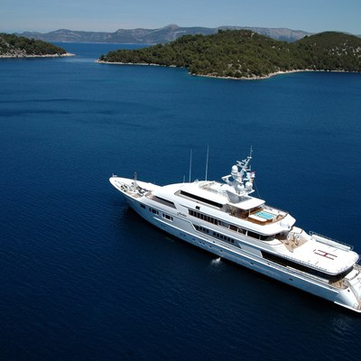 Nomad Yacht Aerial View