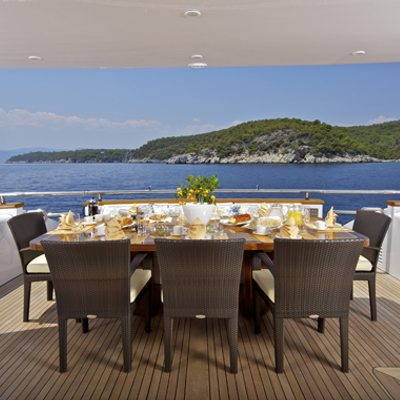 Marnaya Yacht Outdoor Dining